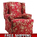 WING CHAIR Slipcover Fl..